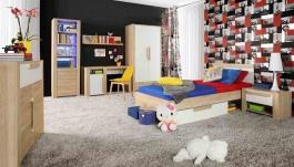 Detská posteľ so zásuvkou Nikki 90x200cm - dub