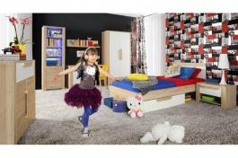 Detská izba Nikki - dub sonoma / biela