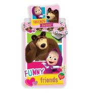 Detské obliečky Míša a Máša Funny Friends