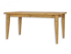 Jedálenský sedliacky stôl 90x160 MES 03 A s hladkou doskou - výber morenia
