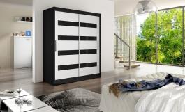 Šatní skříň WESTA IV černá/bílá