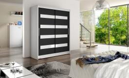Šatní skříň WESTA IV bílá/černá