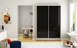 Šatní skříň MONTANA I bílá/černá