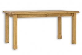 Jedálenský stôl 90x160 MES 02 A s hladkou doskou - výber morenia