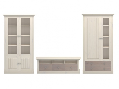 Obývacia stena Monaco II - biela/dub