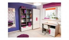 Detská izba lobom III - sivá / biela / fialová