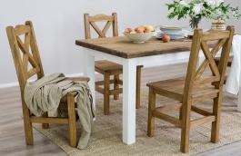 Sedliacky stôl z masívu 100x200 MES 13 B - výber morenia