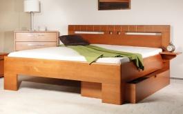 Masívna posteľ s úložným priestorom Varezza 1 - 80/90/100 x 200cm - výber odtieňov