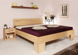 Masívna posteľ s úložným priestorom Varezza 6A (v.50cm) - 160/180 x 200cm - výber odtieňov