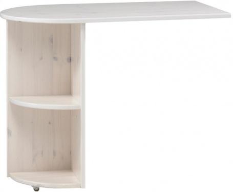 Prídavný stolík k vyvýšenej posteli Dany - masív / biela