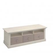 Televízný stolík Monako - biela/dub