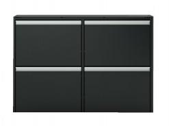 Výklopný botník Cloud 192 - čierna / hnedá