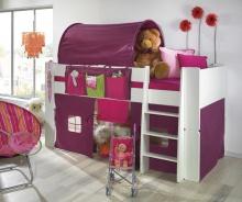 Zvýšená posteľ Dany - komplet - biela / lila