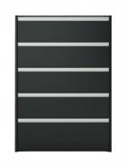 Komoda s 5 šuplíkmi Cloud 017 - čierna / hnedá