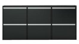 Široký výklopný botník Cloud 194 - čierna / hnedá