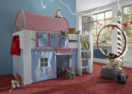 Zvýšená posteľ Dany -komplet- biela / cirkus