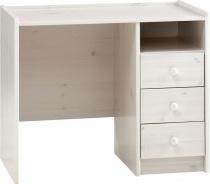 Písací stôl Dany - masív / biela