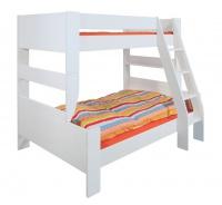 Rozšírená posteľ Dany 90+120x200 cm - MDF/biela