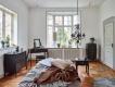 Nočný stolík Baroko - čierna / hnedá