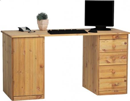 Písací stôl Kent 1D5S - masív / olejovaný