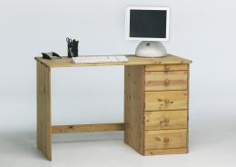 Písací stôl Kent 5S - masív / olejovaný