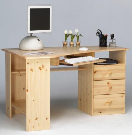 Rohový písací stôl Kent - masív