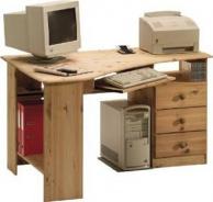 Rohový písací stôl Kent - masív / olejovaný