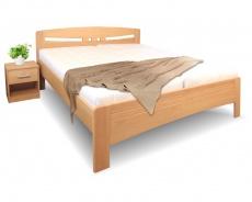 Masívna posteľ s úložným priestorom Evita 6-120