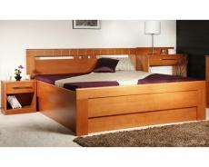 Masívna posteľ s úložným priestorom Arleta 1-120/1