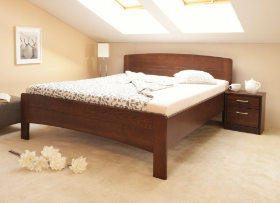 Masívna posteľ s úložným priestorom Evita 4 - 120/140 x 200cm - výber odtienov