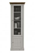 Vitrína vysoká Monako - biela/provence
