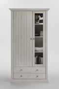 Vitrína Monako 2D2S - biela