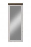 Zrkadlo Monako II - biela / hnedá