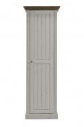 Skriňa Monako 1D - biela / hnedá