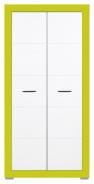 Detská šatníková skriňa Twin - biela / zelená
