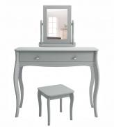 Toaletný stolík so zrkadlom Baroko - tmavo šedá