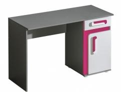 Pracovný stôl APETTITA 9 antracit / ružová