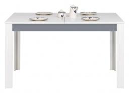 Jedálenský stôl rozkladací Twin - biela / šedá