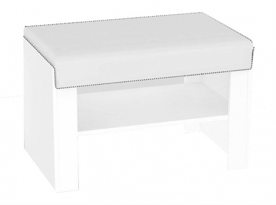 Sedacia lavička s výberom sedáku REA Vesti 1 - biela