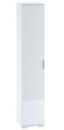 Šatníková skriňa 1-dverová TERRA biela / biely lesk