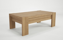 Televízny stolík Kampa - dub / biela