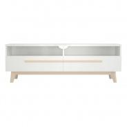 Televízny stolík Sissa - dub / biela