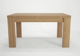 Jídelní stůl Kampa - dub / biela