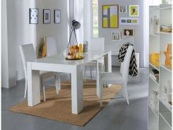 Jedálenský stôl s rozkladaním Penny - biely lesk