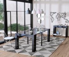 Jedálenský stôl s rozkladaním Penny - čierny