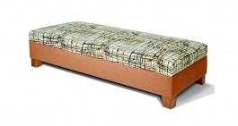 Čalúnená posteľ Vario bez čela - výber poťahu