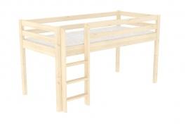 Zvýšené jednolôžko - posteľ DOMINO D905-TZ, masív smrek