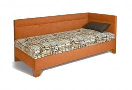 Čalúnená posteľ s čelami ERIKA - výber poťahov