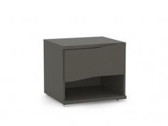 Nočný stolík REA Wave 1 jednozásuvkový - graphite