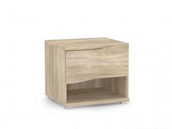 Nočný stolík REA Wave 1 jednozásuvkový - dub bardo